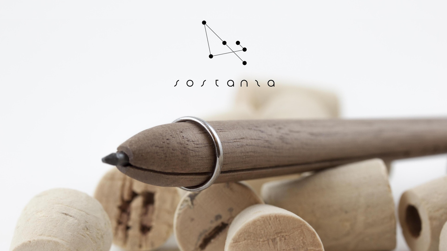 A simple object can be beautiful and work well with very little. Sostanza is a wooden pencil that never ends. Handcrafted in Italy.