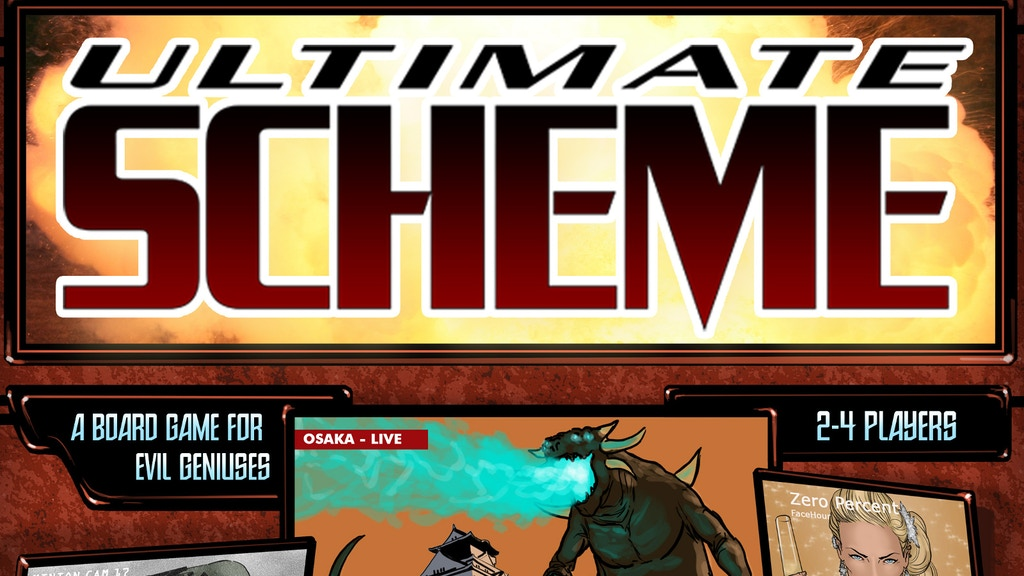 Ultimate Scheme - A Board Game for Evil Geniuses project video thumbnail