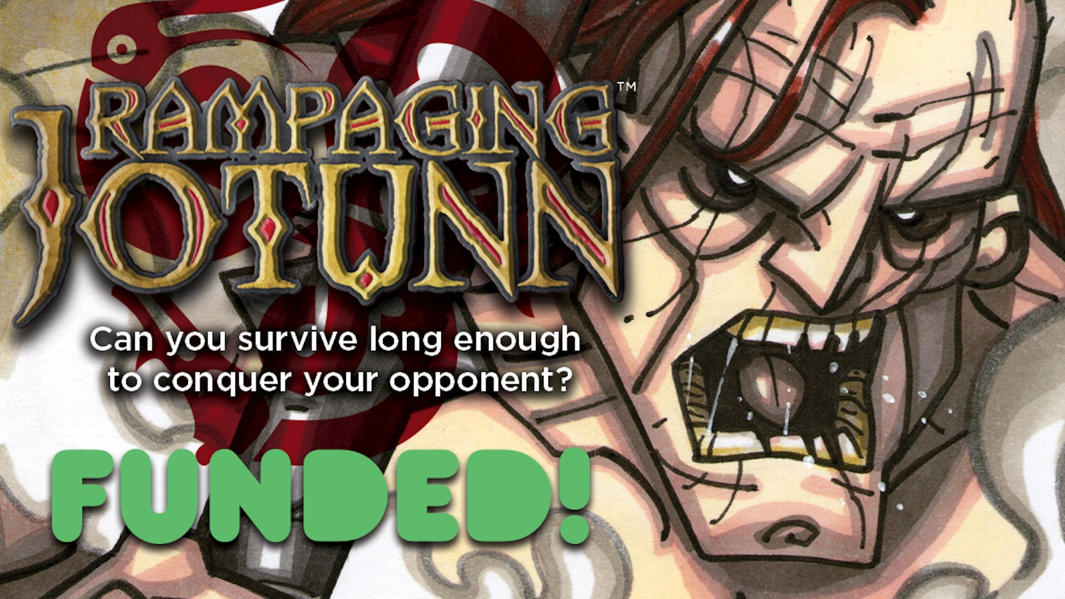 Rampaging Jotunn is a fast-paced 2 player Viking themed board game for the whole family.