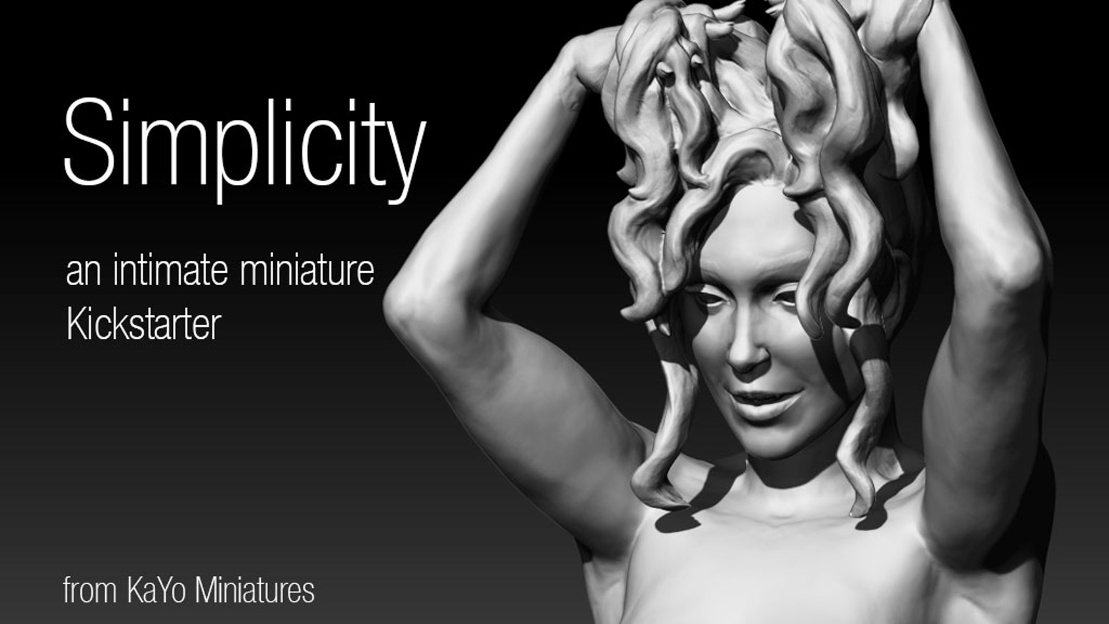 An intimate Kickstarters for friends and fellow appreciators of beauty. Pin-up Miniature. 75mm Scale.