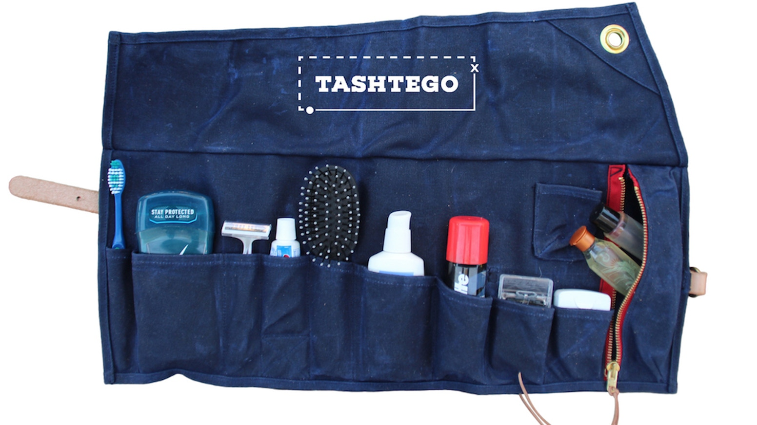 The Tashtego Travel Kit is the roll-up toiletry kit for avid adventurers. Our campaign is over, but you can still order!