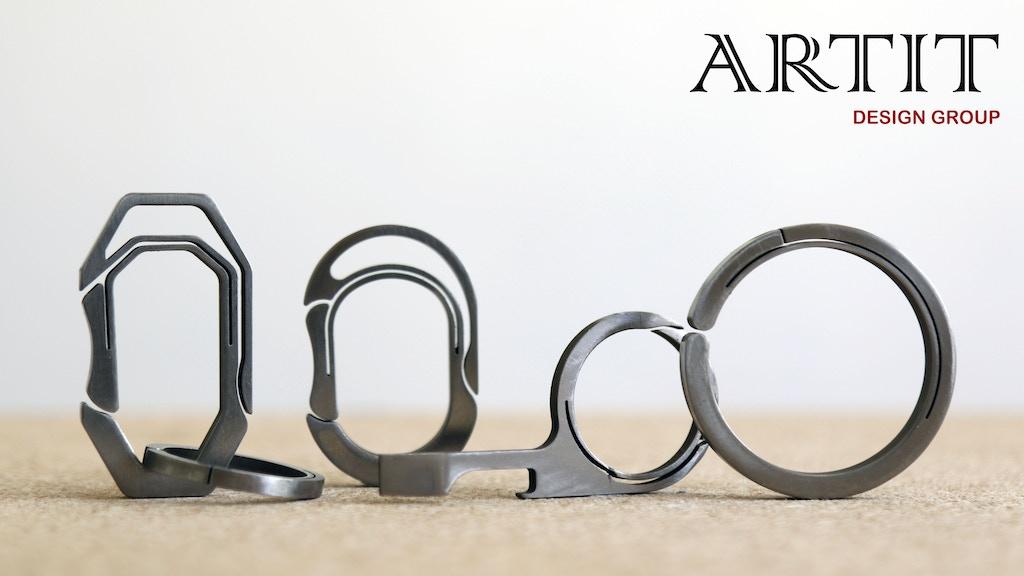 ARTIT_The Minimalistic Titanium EDC KeyRing/MPRing/Carabiner project video thumbnail