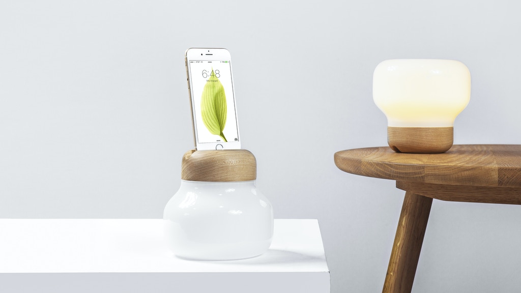 Mushroom LED Lamp:The New Way To Charge Your iPhone project video thumbnail