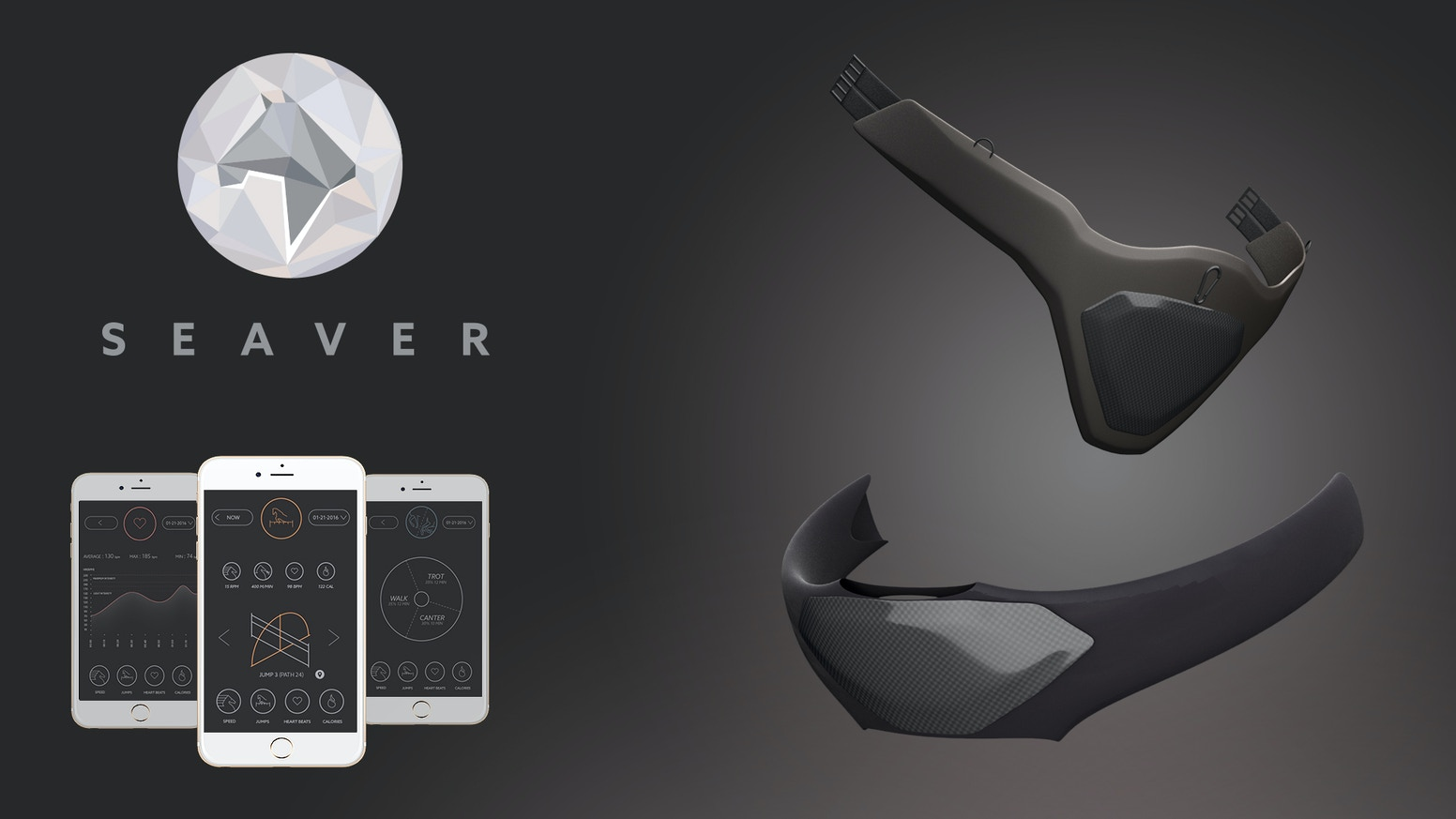The Seaver girth: the first connected equipment dedicated to horse performance and health care, designed & handmade in France.