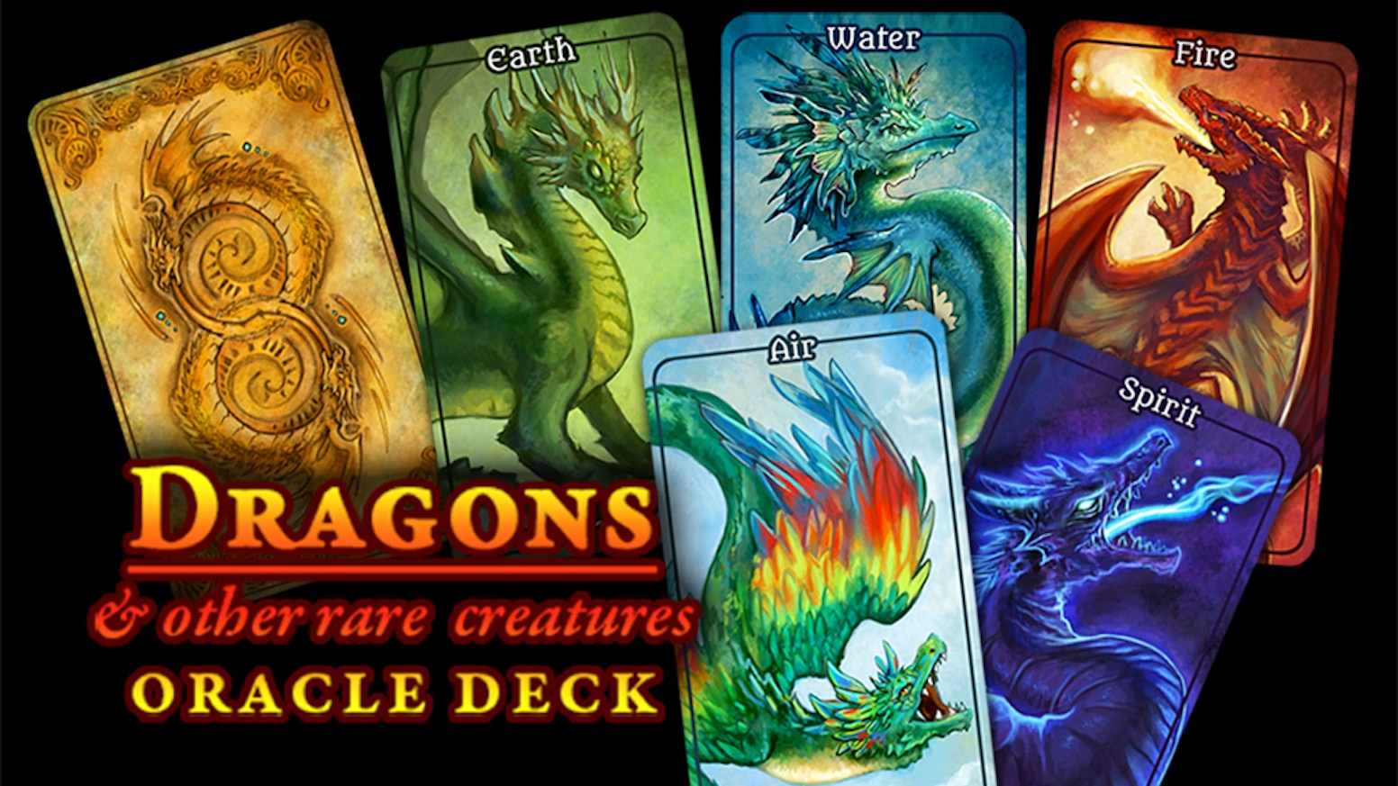 A 60 card, full color oracle deck featuring Dragons, Faeries, and much more!