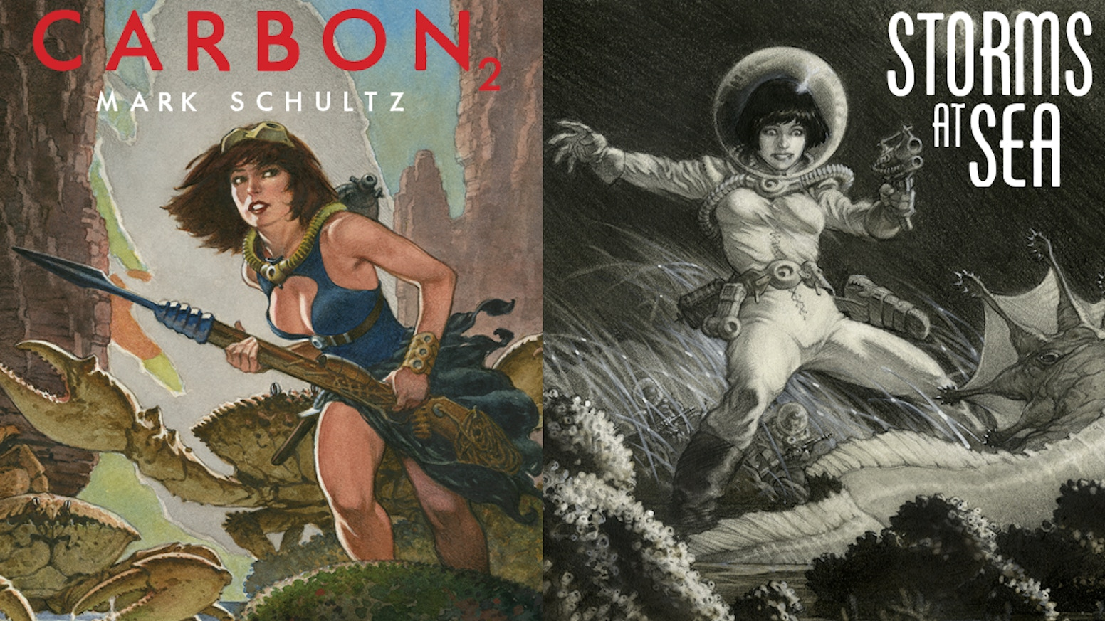 Mark Schultz's Storms at Sea and Carbon 2 books in premium signed deluxe formats!