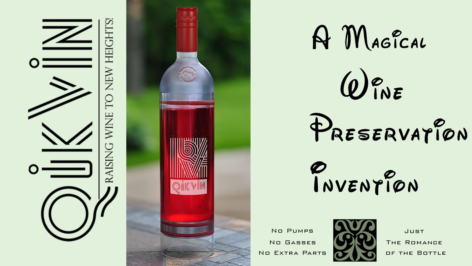 Use our Revolutionary New Reusable Wine Bottle to push air out of the bottle and preserve wine for hours, days or weeks!