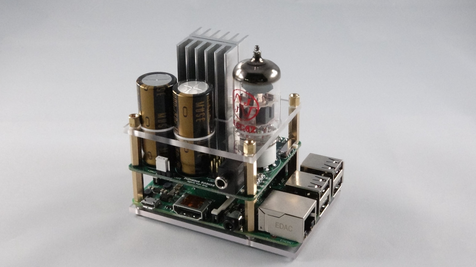 Hybrid Tube Amp For The Raspberry Pi By 2 Design Kickstarter Ecc88 Based Hampton Preamplifier