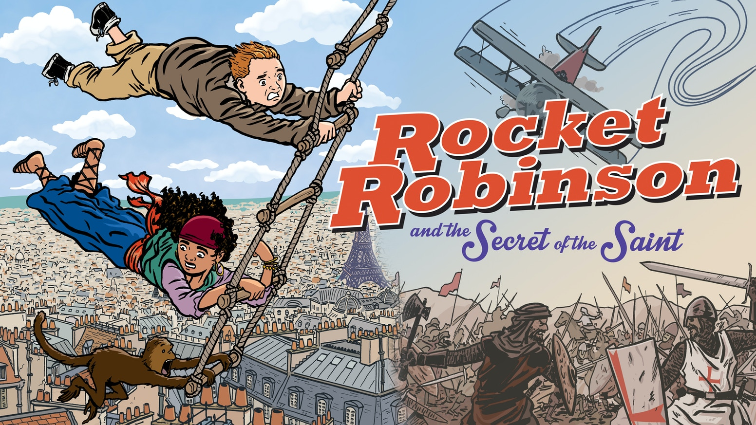 The second adventure in the Rocket Robinson series is here! A fun, action-packed graphic novel for all ages!