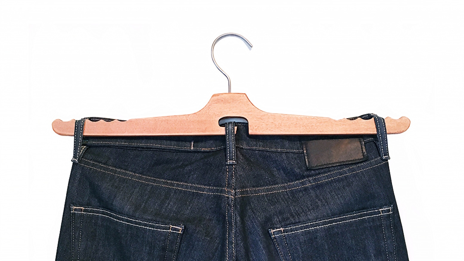 No more folding, ironing, creases, wrinkles or even drying your jeans. An easy to use hanger for your favorite denim.