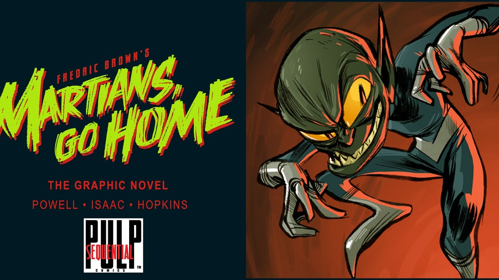Fredric Brown's Martians, Go Home graphic novel project video thumbnail