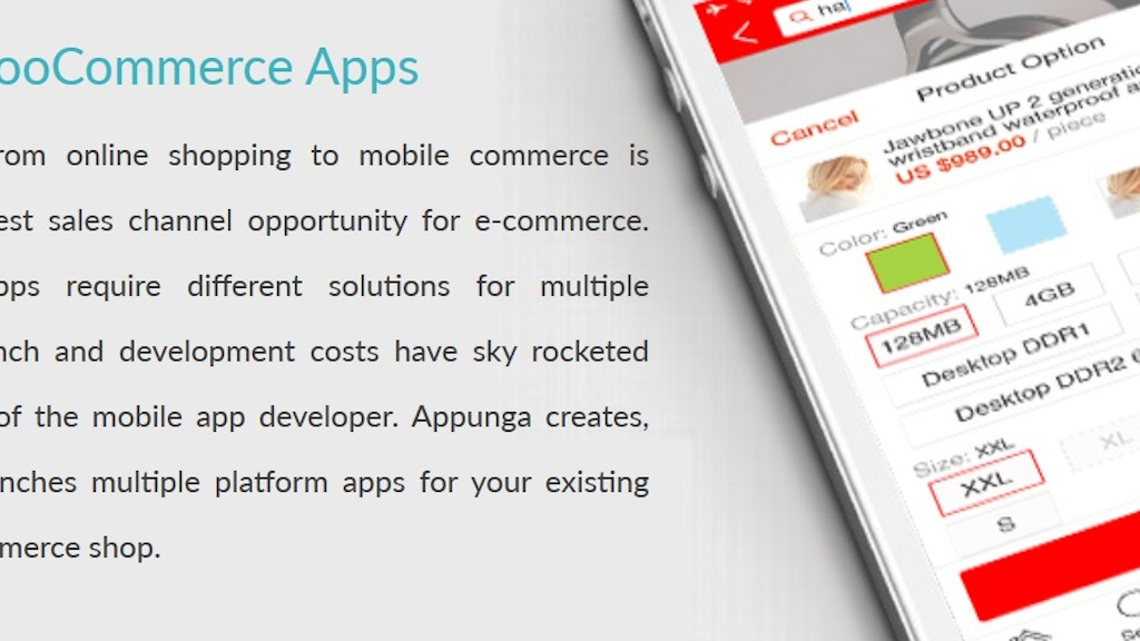 Project image for Appunga: One Stop WooCommerce Mobile App