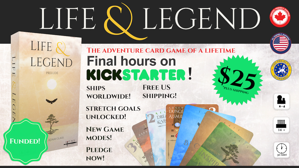 Life & Legend - An Adventure Card Game project video thumbnail