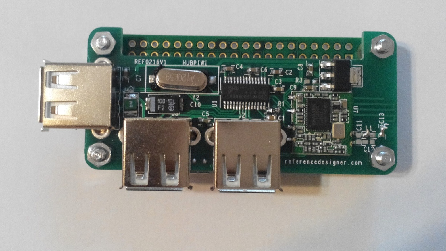 HubPiWi is a USB 2.0 Hub for Raspberry Pi Zero with three USB 2.0 Ports and  an on board Wifi. No Connector or cable is required.