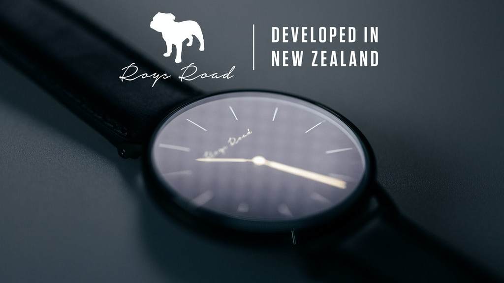 Roys Road Watch Co. Developed in New Zealand project video thumbnail