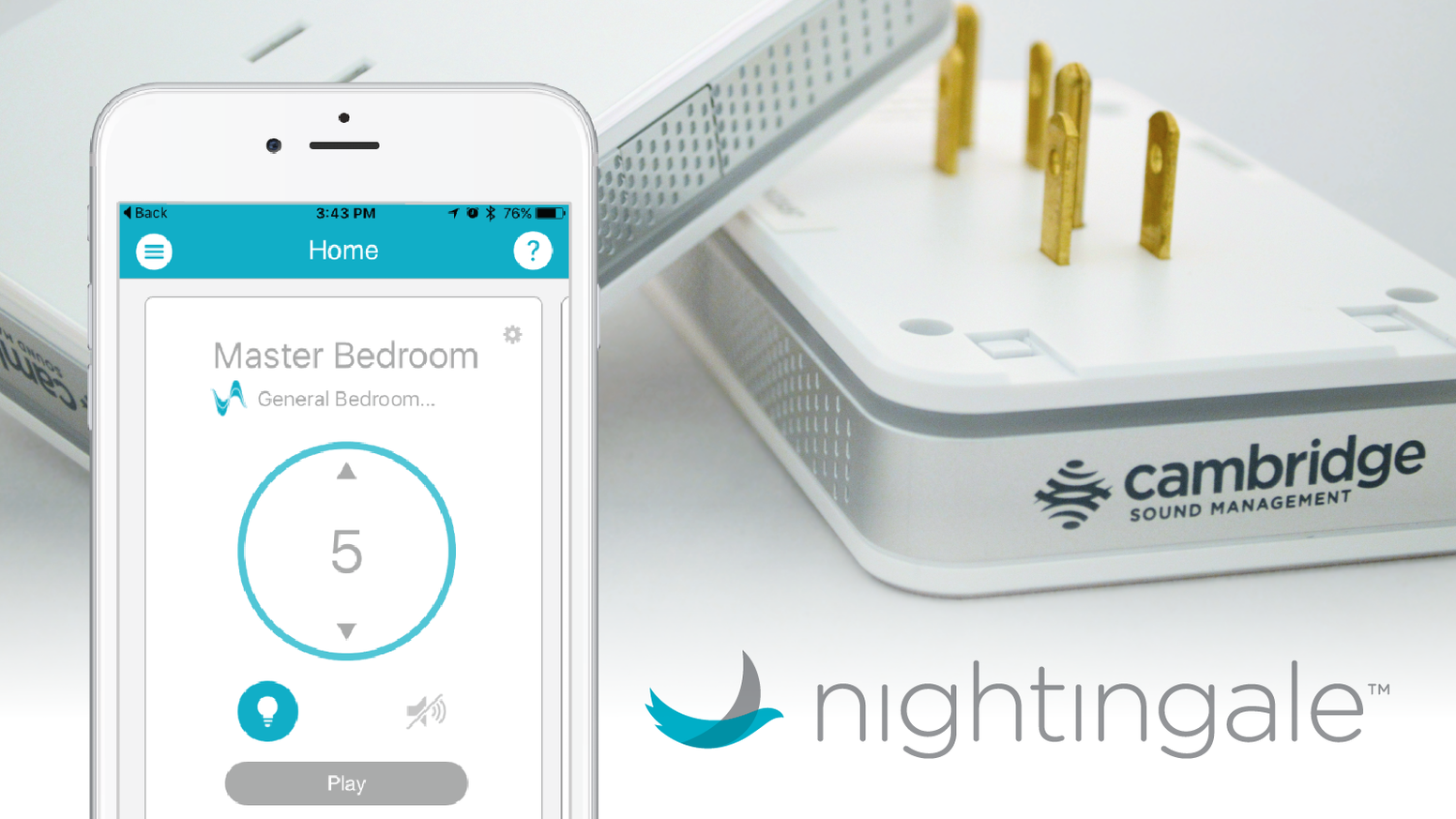Nightingale is the first smart home sleep system designed to mask common indoor and outdoor noises to help you sleep better every night. Pre-Order now on meetnightingale.com