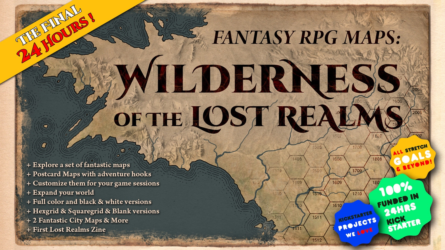 Explore the Wilderness of the Lost Realms through this high-quality set of digital maps, all ready to be included in your RPG campaign.