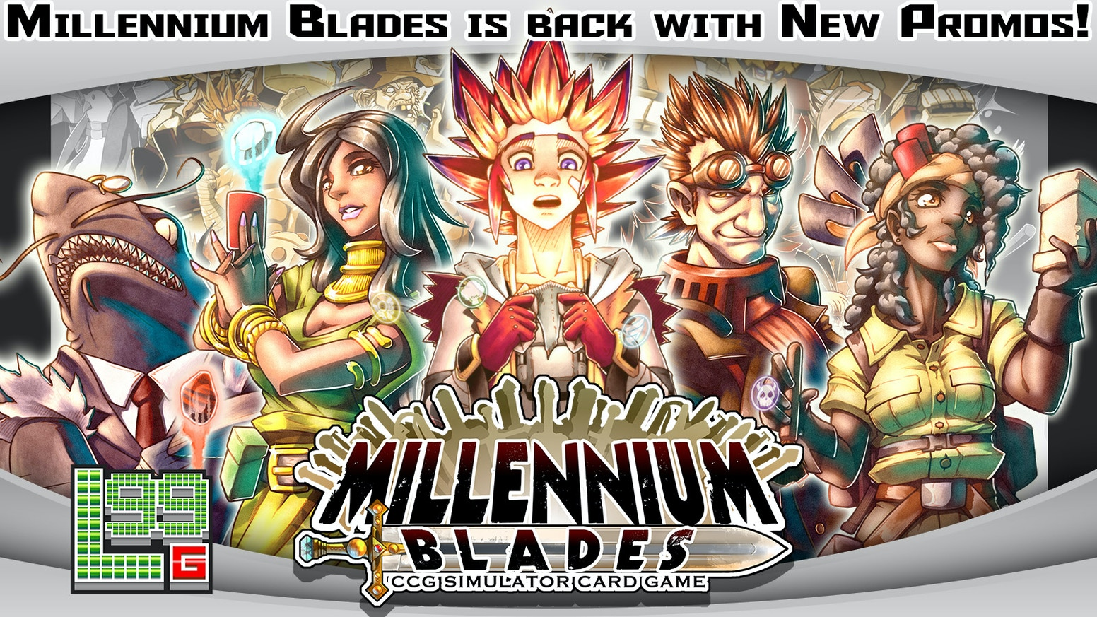 Millennium Blades is the top-reviewed CCG Simulator Board Game, where you buy, sell, collect, trade, and duel to become world champion!