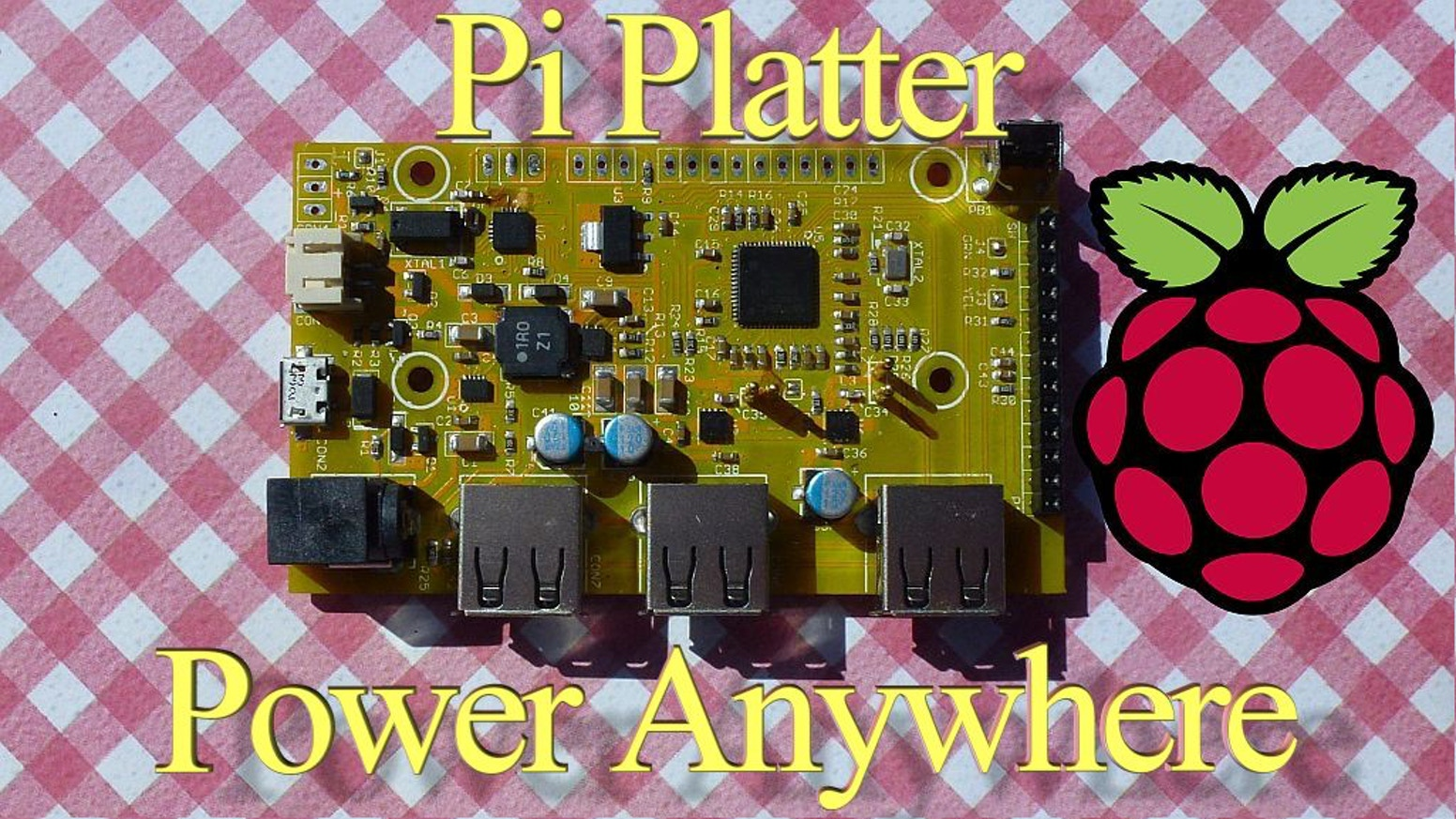 Solar Pi Platter - A versatile board for powering your Pi from the sun or battery and much more.  Come see what we've cooked up!