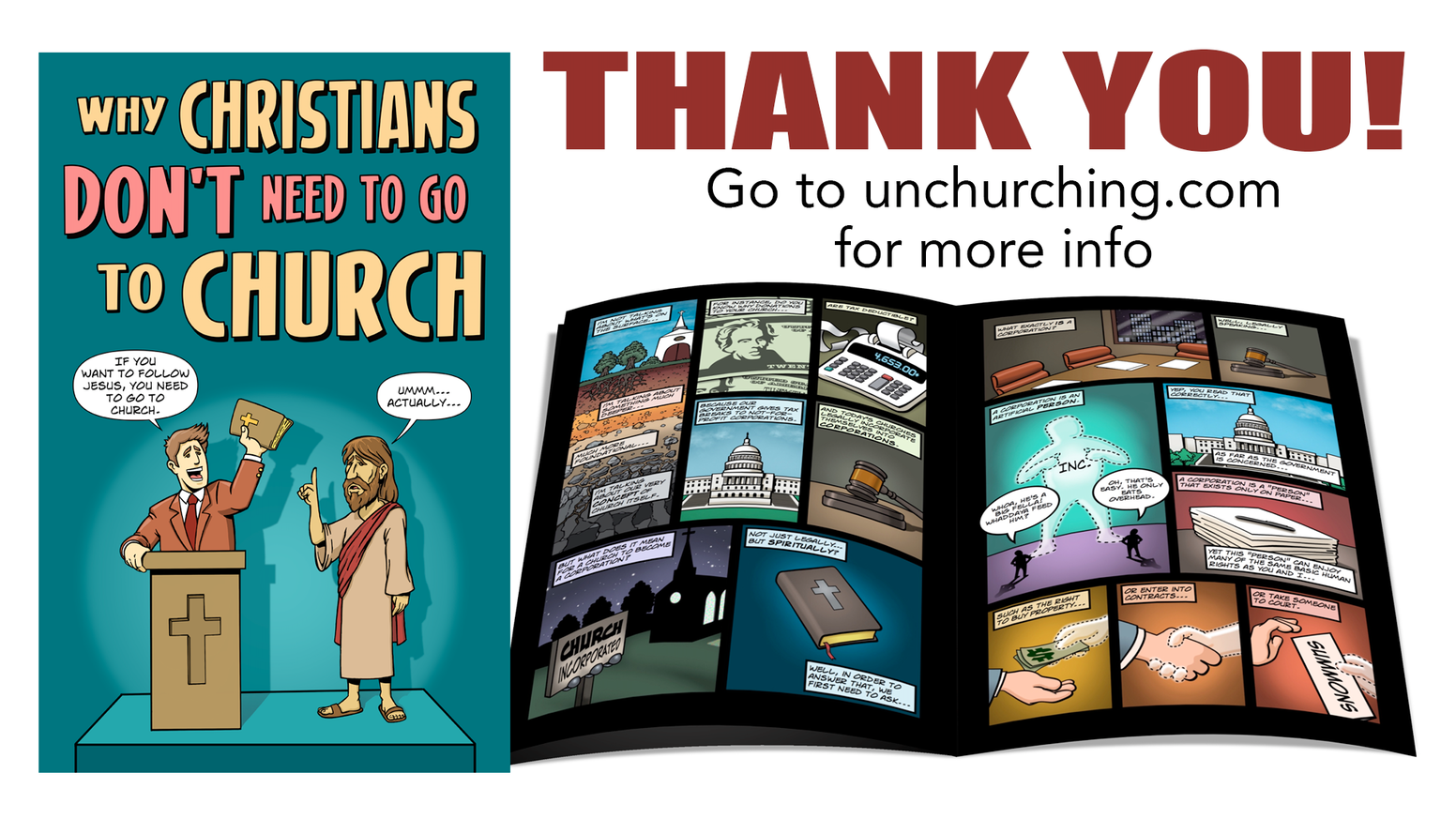 I'm creating a special comic book to let Christians know they don't have to go to church to be the church.