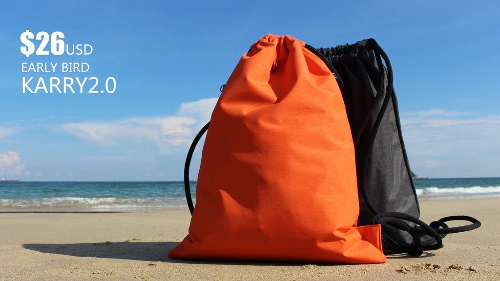 Karry2.0: Great quality drawstring bag with rain-cap project video thumbnail