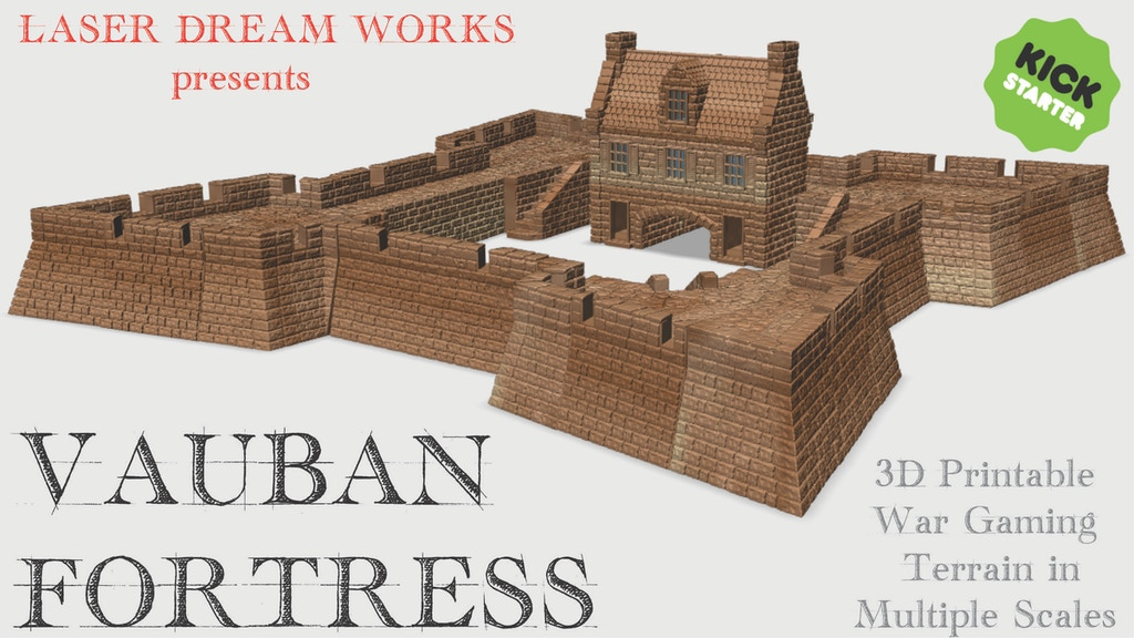 VAUBAN FORTRESS - 3D Printable 17th and 18th Century Terrain project video thumbnail