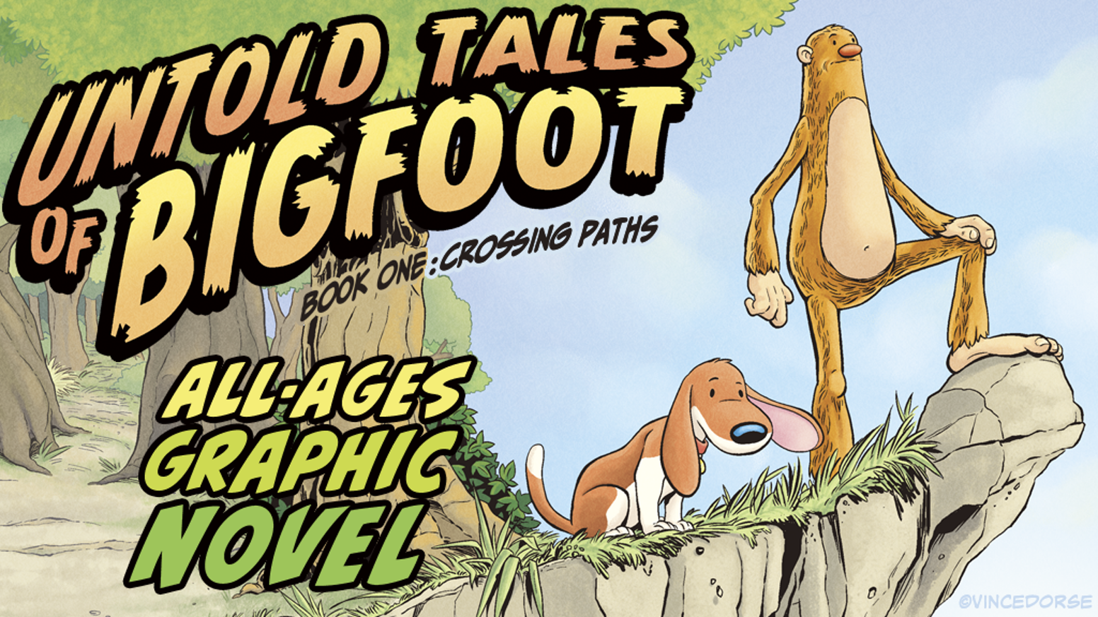 Untold Tales of Bigfoot Graphic Novel, an award-winning, all-ages comic about a lonesome Bigfoot and a lost dog named Scout.