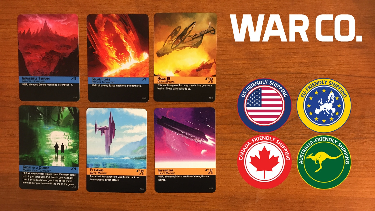 An expandable card game for 2-6 players set in a post-apocalyptic sci-fi dystopia. Your cards are your life.