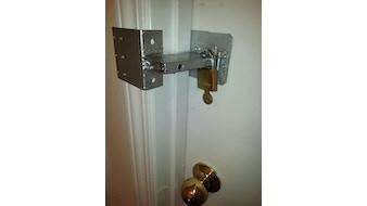 Door Shackle - a portable door lock for asset protection!
