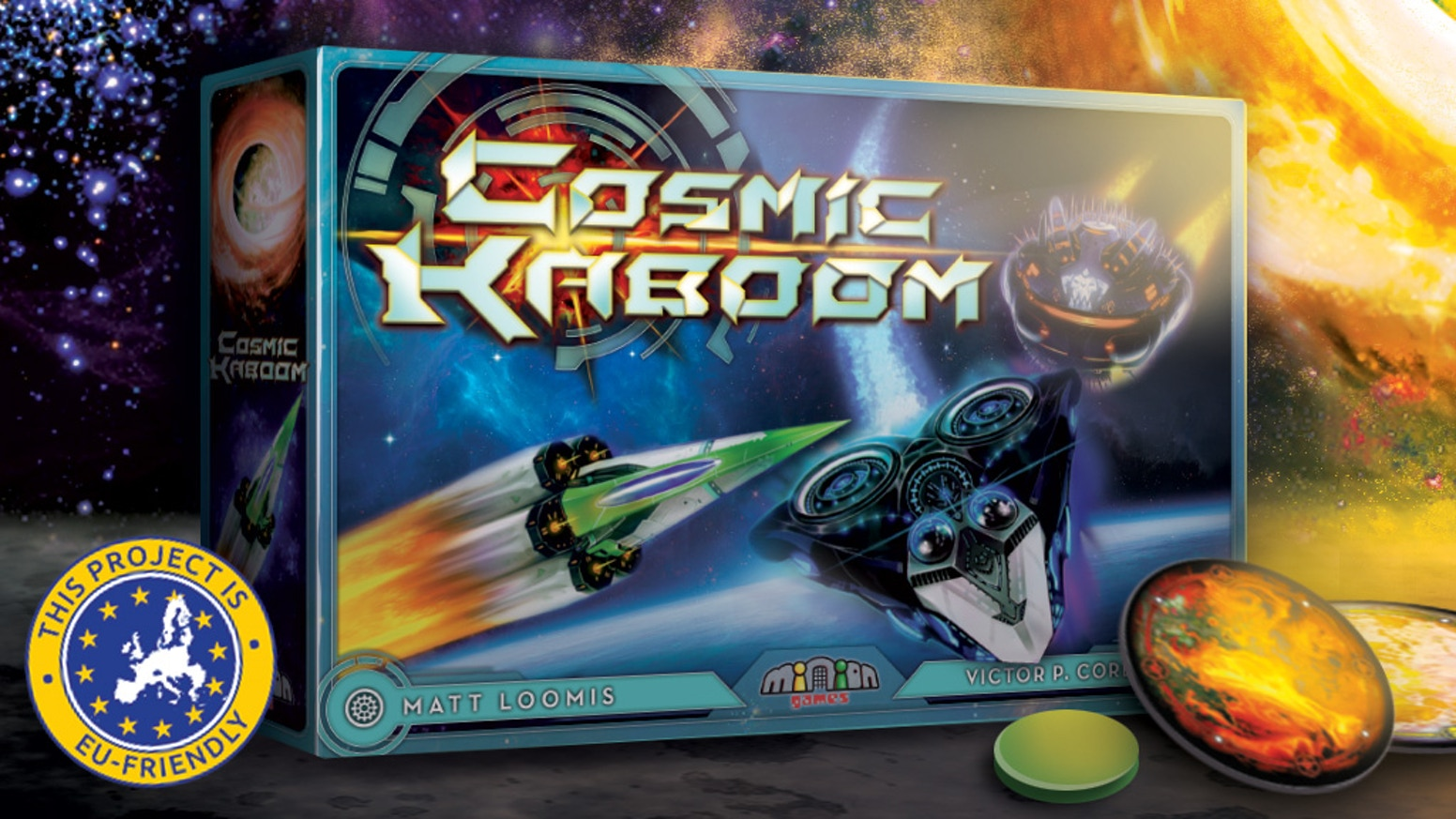 Players fly (flick) their space ships around space, collecting energy to power up space bombs and eradicate their enemies.
