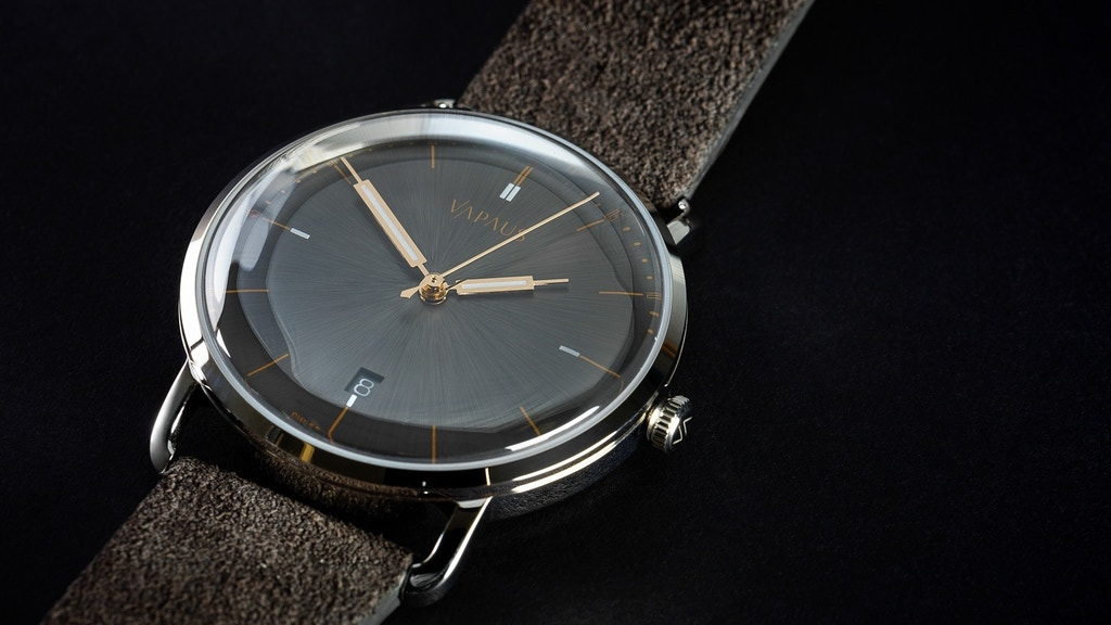 VAPAUS Veli - 1950s inspired luxury hand-wound Swiss watches project video thumbnail