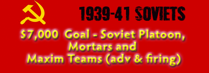 $7000 - Soviet Platoon and Soviet Maxim Teams (advancing and firing) and Mortar Team