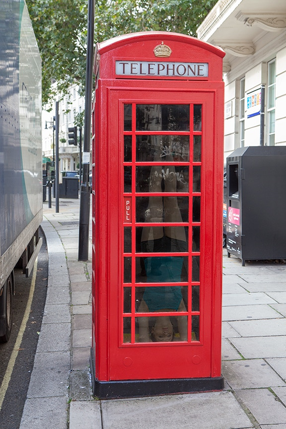 mock up of a Breathing Room installation on London streets