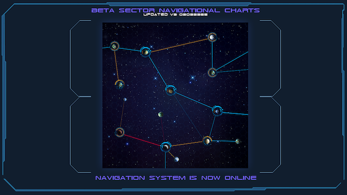 One of six initial sectors you'll be able to explore in the interactive map. The map area depicted will be full screen. It's so large you'll have to slide it around to see all of it. All sectors will be seamlessly combined to form the PDF map.