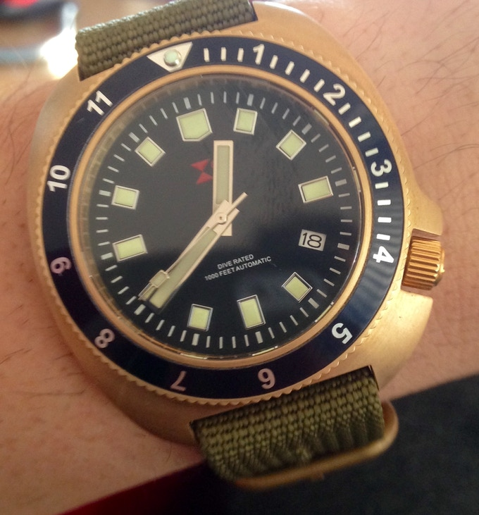 Stainless steel version may become available as a strecth - Bronze dive watch ...