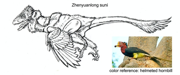 'Zhenyuanlong action figure concept drawing'