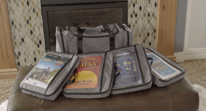 The Vault bag holds up to five Gamefolio cases in the main compartment.