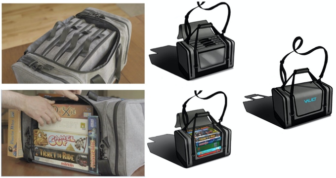 As shown in the renderings on the right, our production model has more open access to the main compartment.