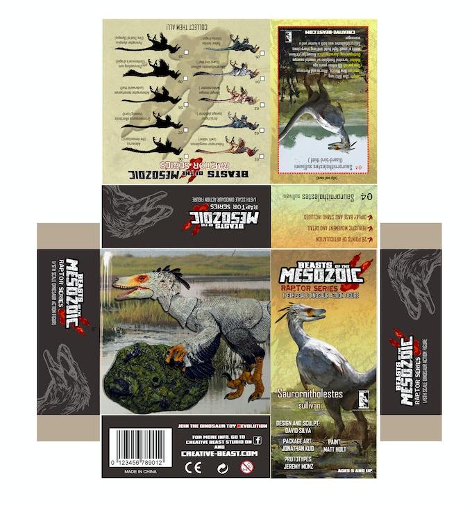 'Saurornitholestes package layout'