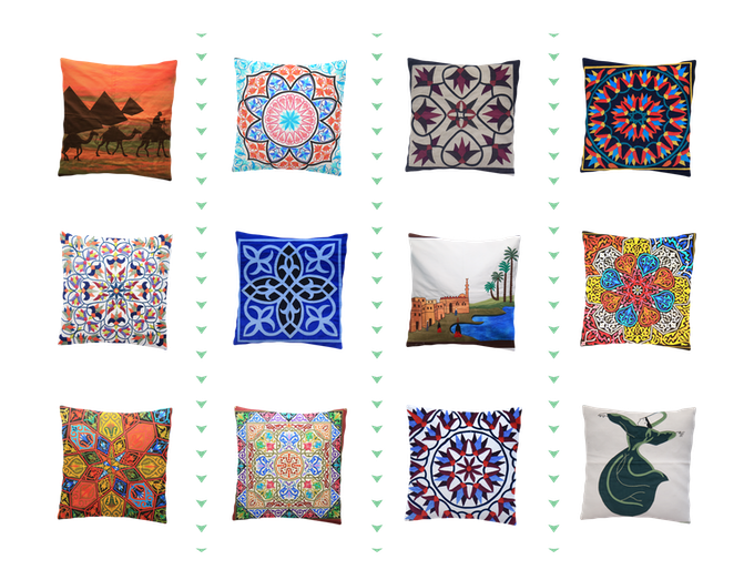 Variety of quilted pillow covers