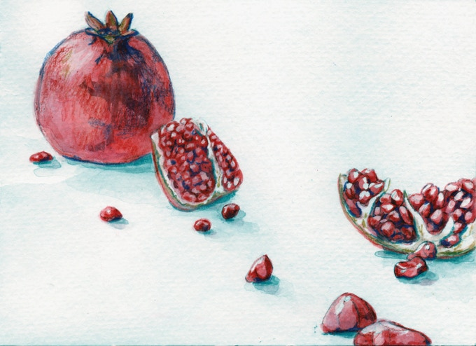 Pomegranate with Seeds (Art by Starr Weems)