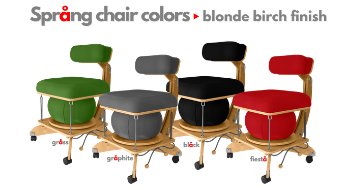 All colors are available in both natural blonde and dark walnut