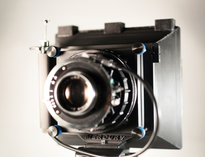 Mercury prototype configured for large format (4x5)