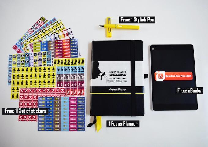 Set of Focus Planner