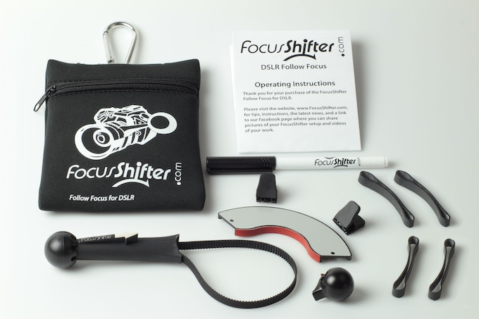 Emblazoned with the FocusShifter logo, the new dedicated pouch looks and feels as professional as the FocusShifter itself.