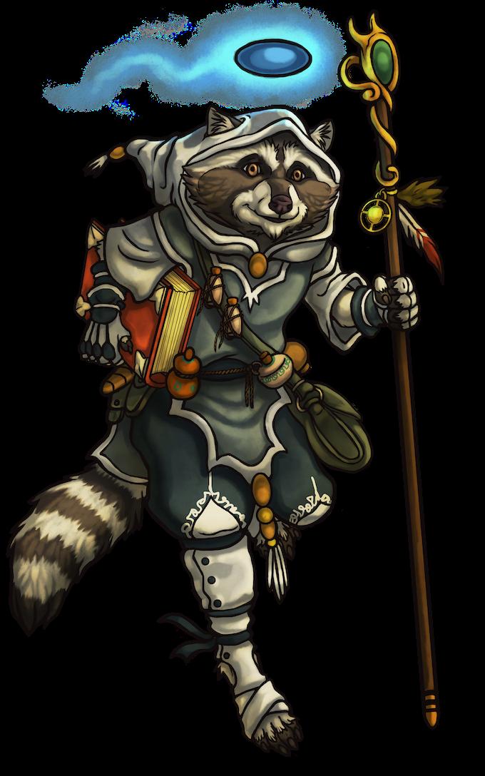 Raccoon Wizard