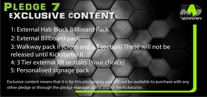 Pledge 7 Exclusive content