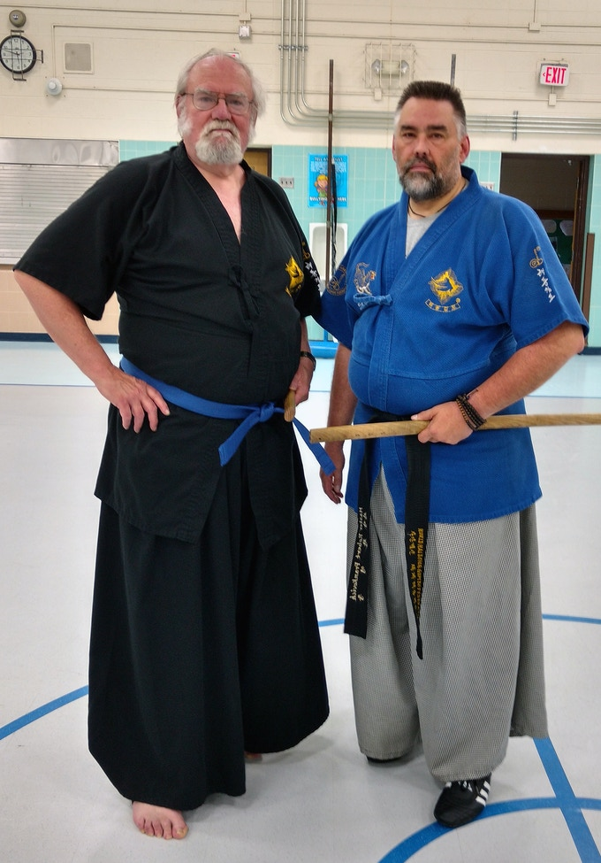 Even old-timers can swing swords!