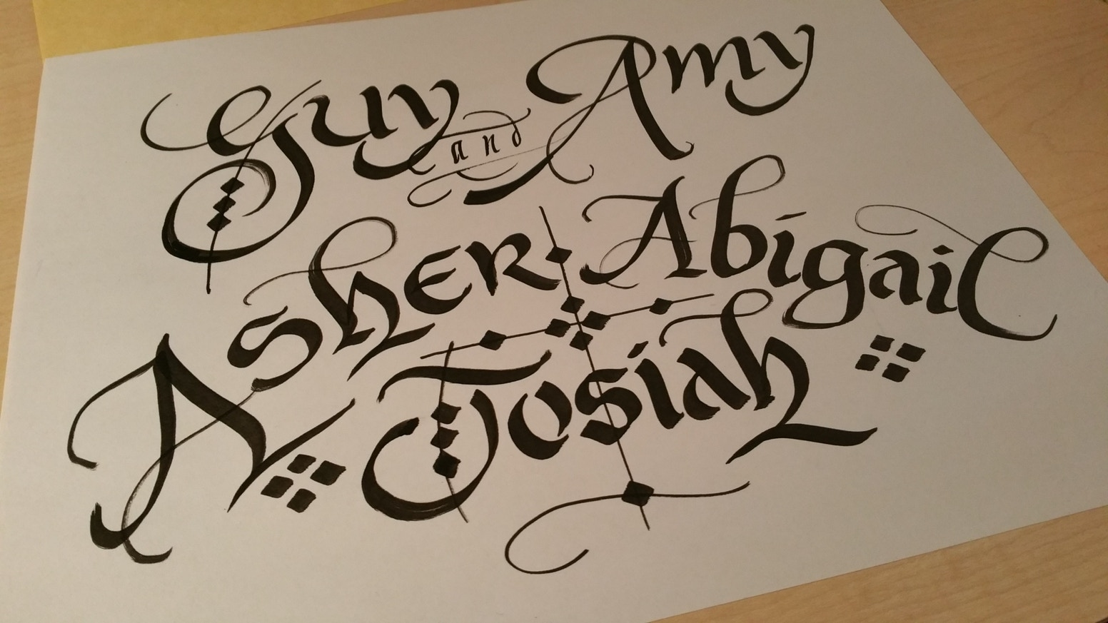 100 Hand Lettered Digital Calligraphy By Carl Naples