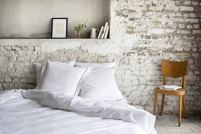 Mossipa duvet cover with Birka (front) and Laud (back) pillow cases